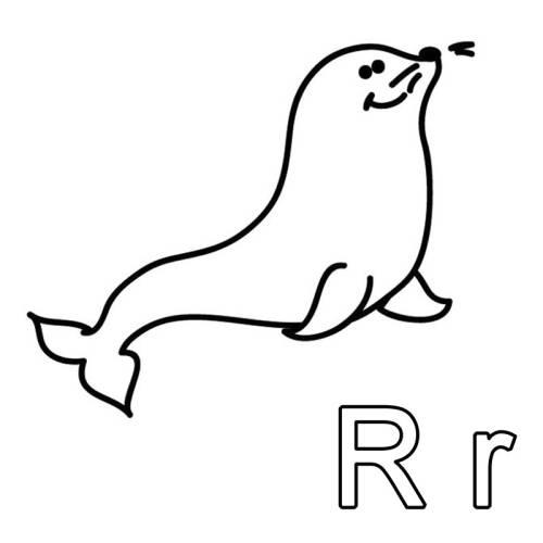 kostenlose malvorlage buchstaben lernen ausmalbild r zum