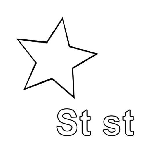 kostenlose malvorlage buchstaben lernen ausmalbild st zum