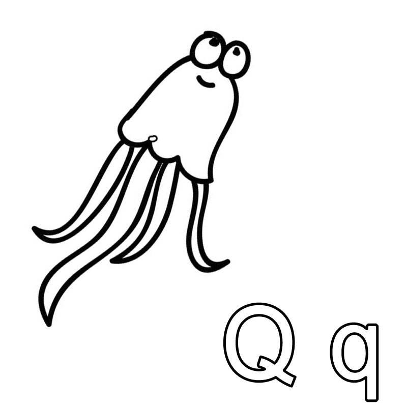 kostenlose malvorlage buchstaben lernen ausmalbild q zum