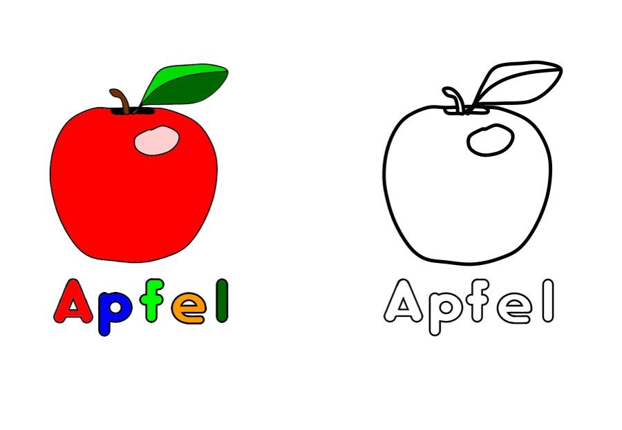 Ausmalbild Arbeitsblatter Fur Kinder Ausmalbild Apfel