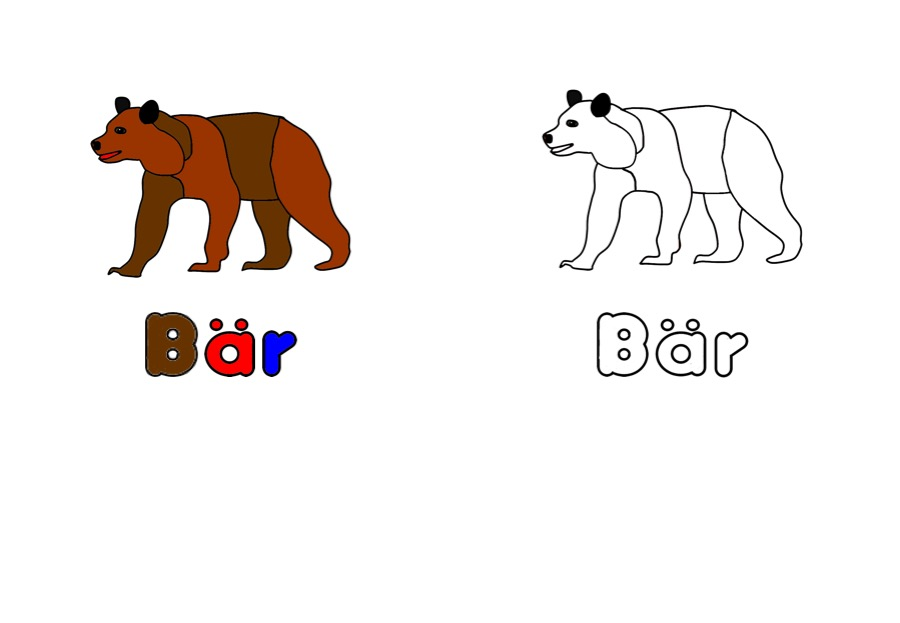 Ausmalbild Arbeitsblätter Für Kinder Ausmalbild Bär