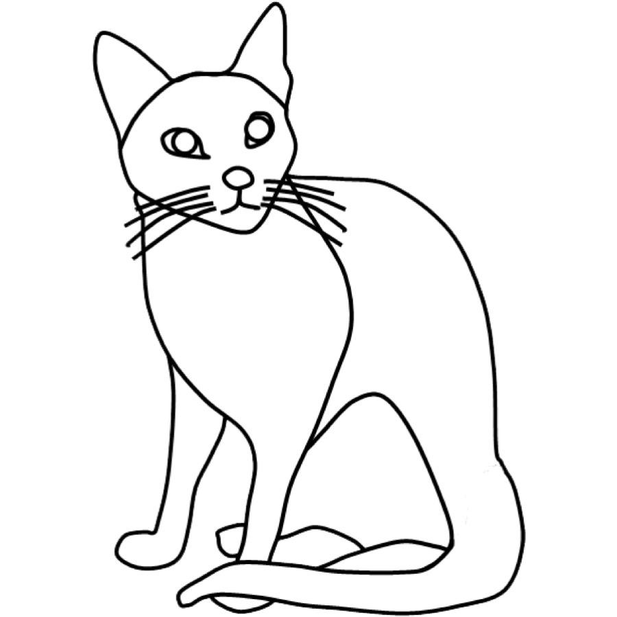 Ausmalbild Katzen Ausmalbild Katze Kostenlos Ausdrucken