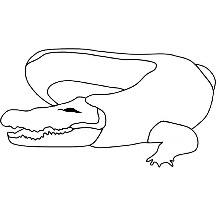 Kostenlose Malvorlage Tiere: Ausmalbild Krokodil zum Ausmalen