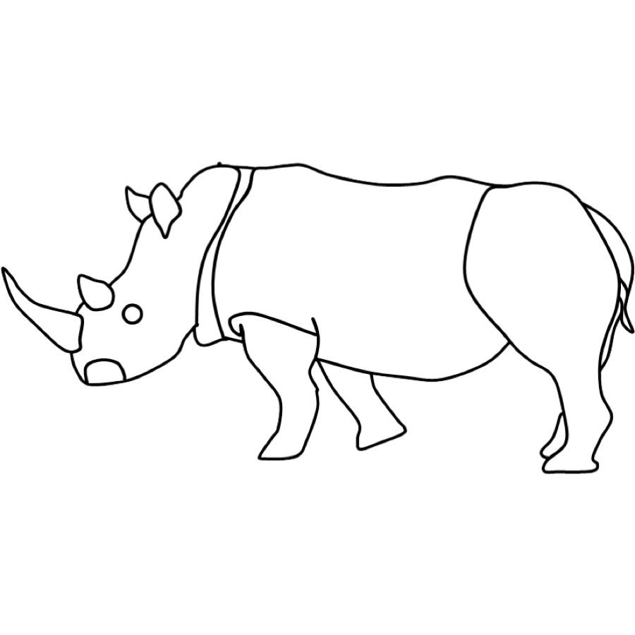 Kostenlose Malvorlage Tiere Ausmalbild Nashorn Zum Ausmalen