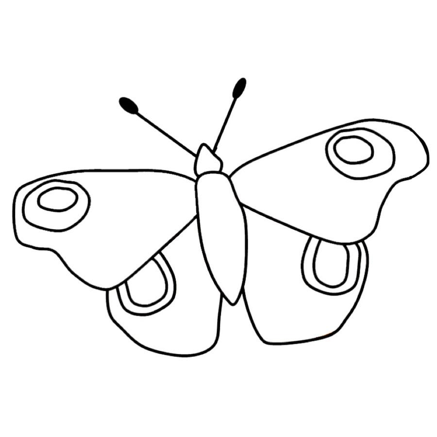 Ausmalbilder Schmetterling Kostenlos Ausdrucken - Malbild