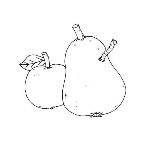 Kostenlose Malvorlage Bauernhof Apfel Und Birne Zum Ausmalen