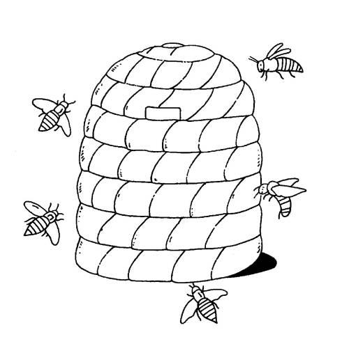 kostenlose malvorlage bauernhof bienenstock zum ausmalen