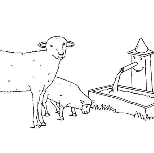 Kostenlose Malvorlage Bauernhof Schafe Auf Dem Bauernhof Zum Ausmalen