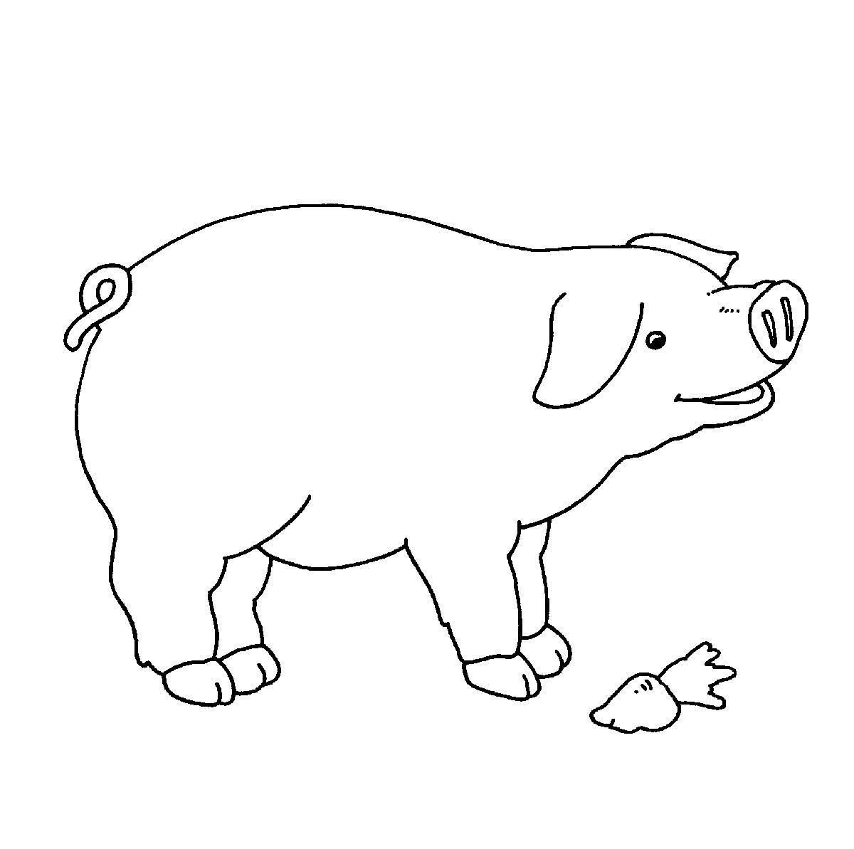 ausmalbild bauernhof zum ausdrucken  cartoonbild