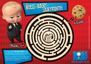 Labyrinthe für Kinder: Labyrinth: The Boss Baby zum Ausmalen