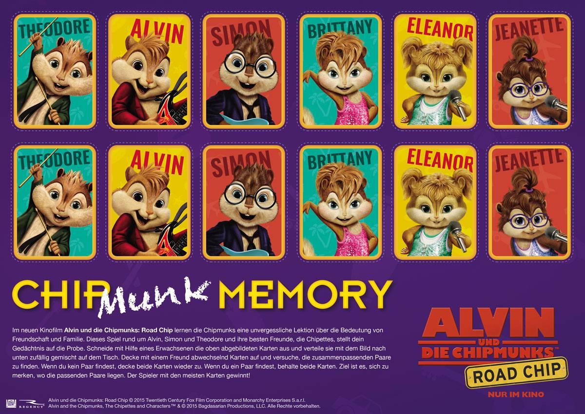 Spiel Fur Kinder Spiele Fur Drinnen Alvin Und Die Chipmunks Chipmunk Memory