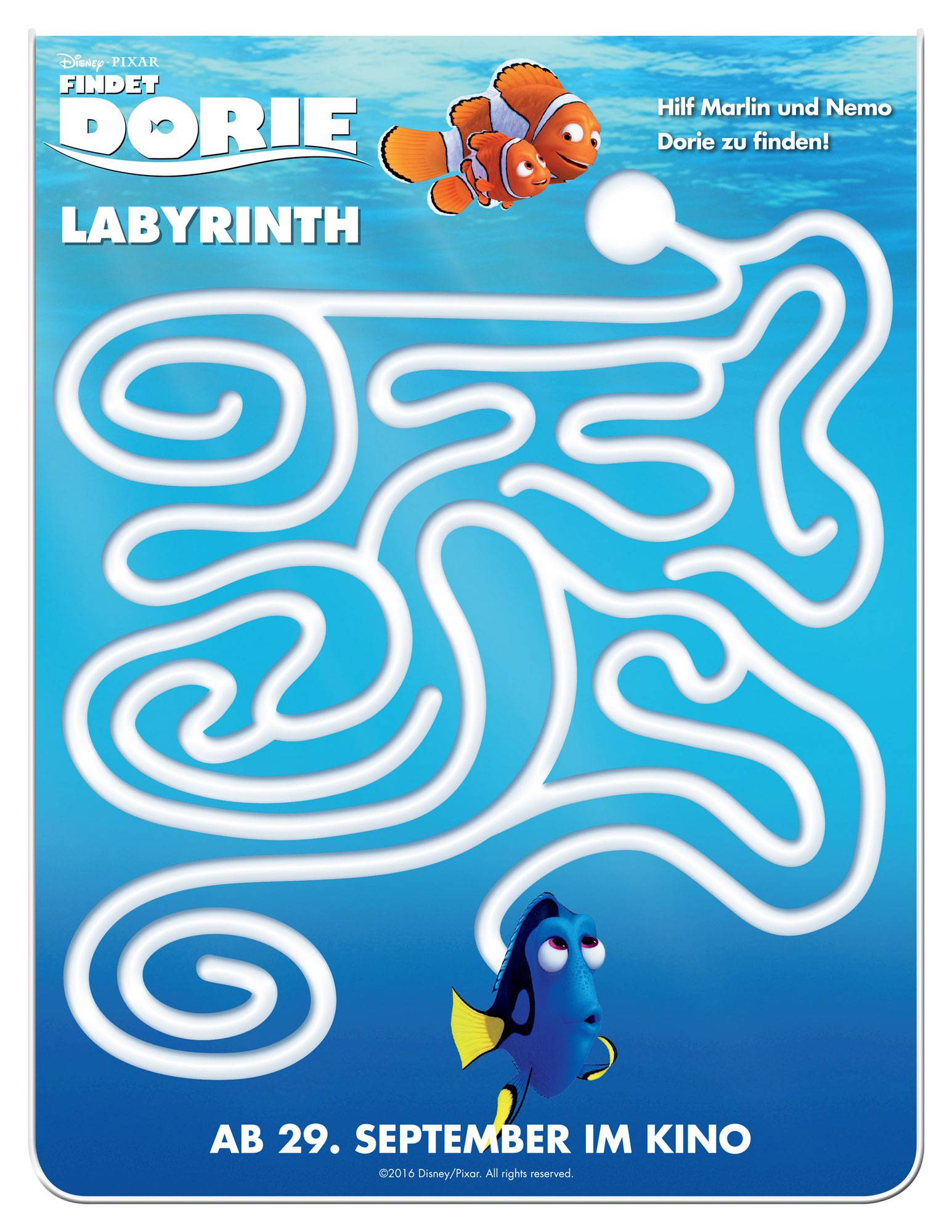 Ausmalbild Labyrinthe Fur Kinder Findet Dorie Labyrinth