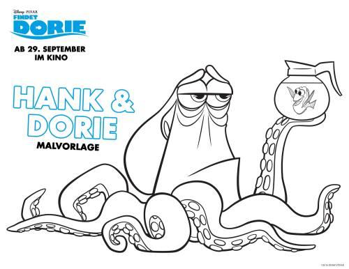 Kostenlose Malvorlage Findet Dorie: Findet Dorie: Hank & Dorie zum ...