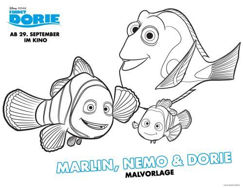 Kostenlose Malvorlage Findet Dorie Findet Dorie Marlin Nemo