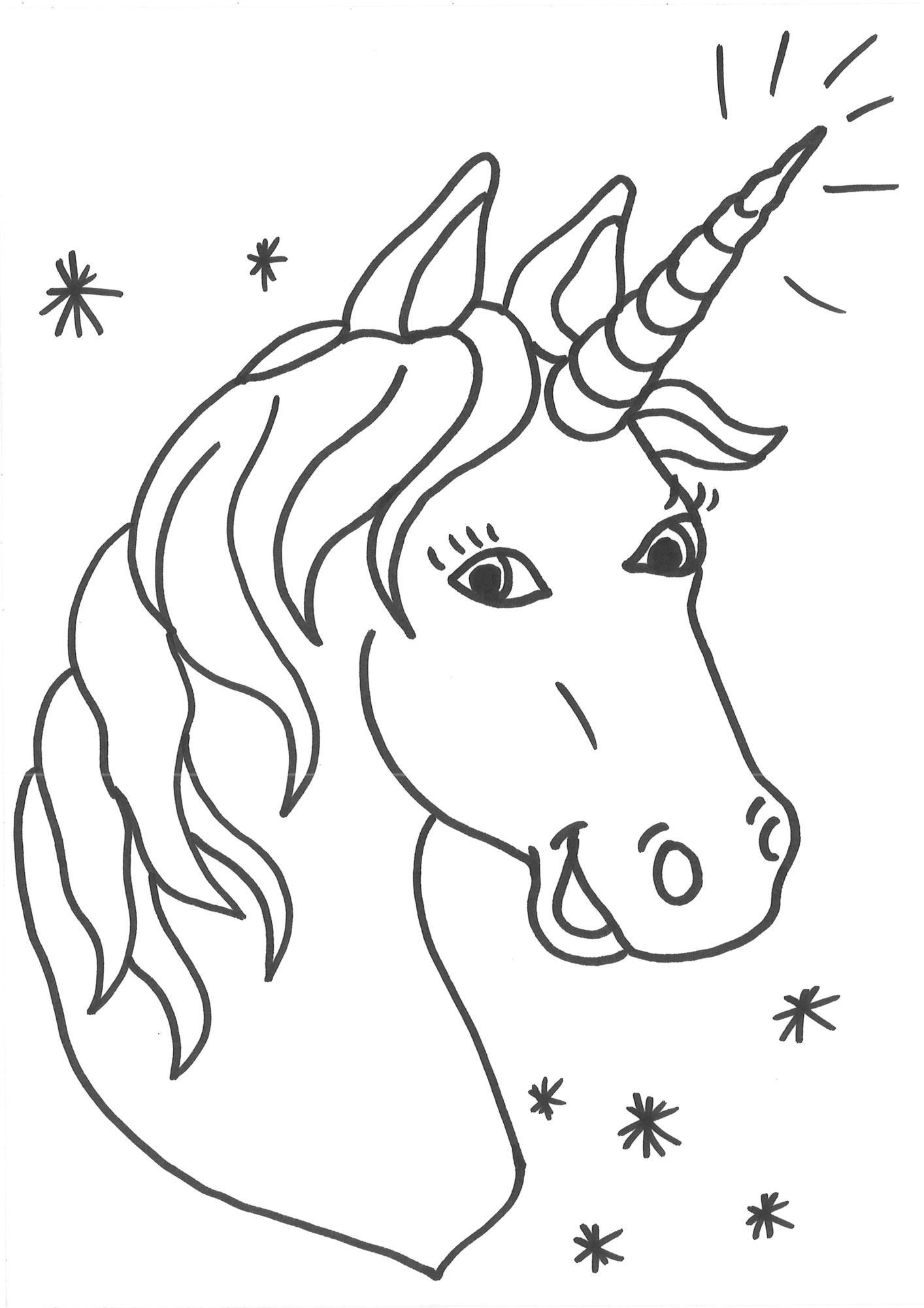 Ausmalbild Einhörner: Malvorlage Einhorn kostenlos ausdrucken
