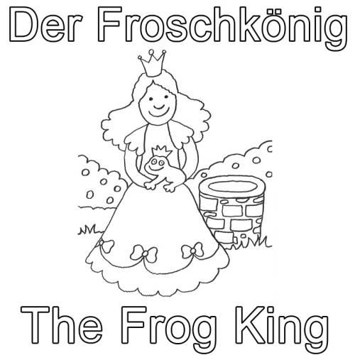 Kostenlose Malvorlage Englisch Lernen Der Froschkonig The Frog King Zum Ausmalen