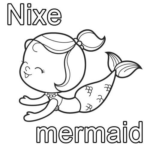 kostenlose malvorlage englisch lernen nixe  mermaid zum