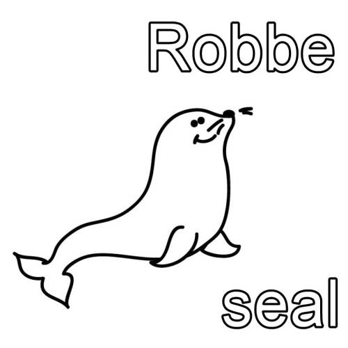 Kostenlose Malvorlage Englisch Lernen Robbe Seal Zum Ausmalen