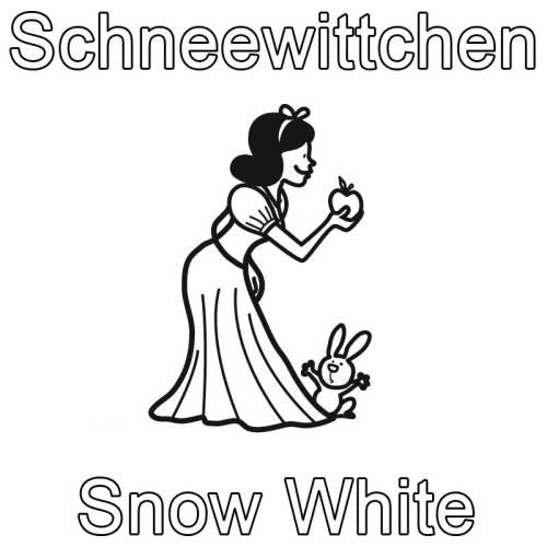 kostenlose malvorlage englisch lernen schneewittchen