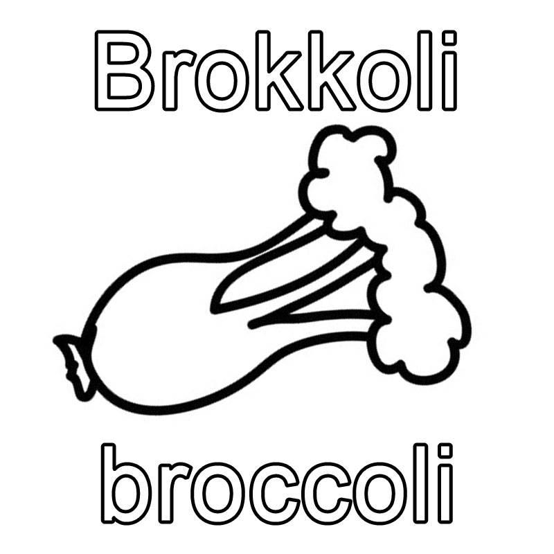 ausmalbild englisch lernen brokkoli broccoli kostenlos ausdrucken. Black Bedroom Furniture Sets. Home Design Ideas