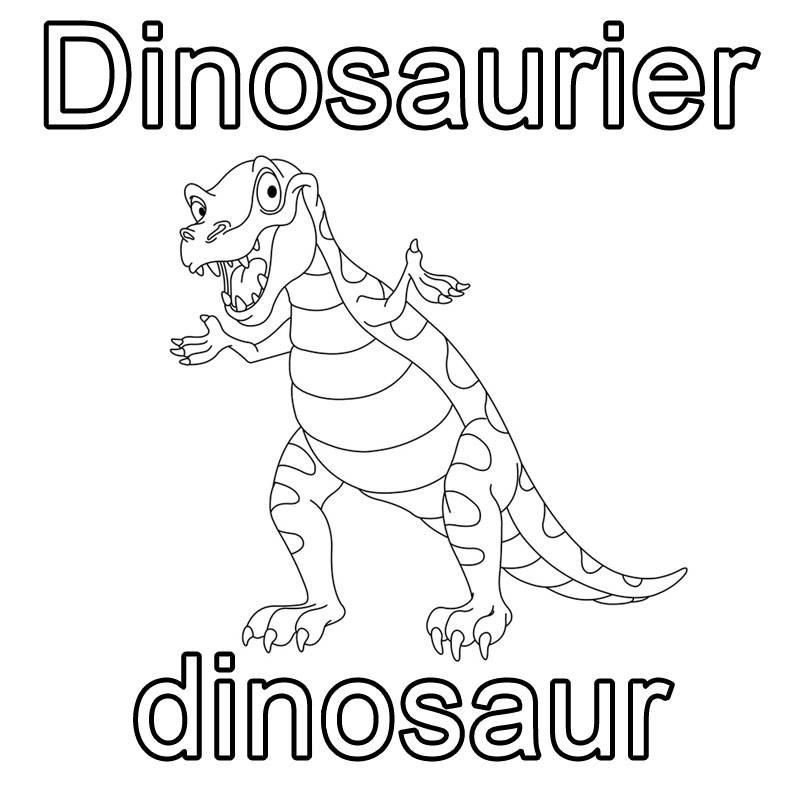 kostenlose malvorlage englisch lernen dinosaurier dinosaur zum ausmalen. Black Bedroom Furniture Sets. Home Design Ideas