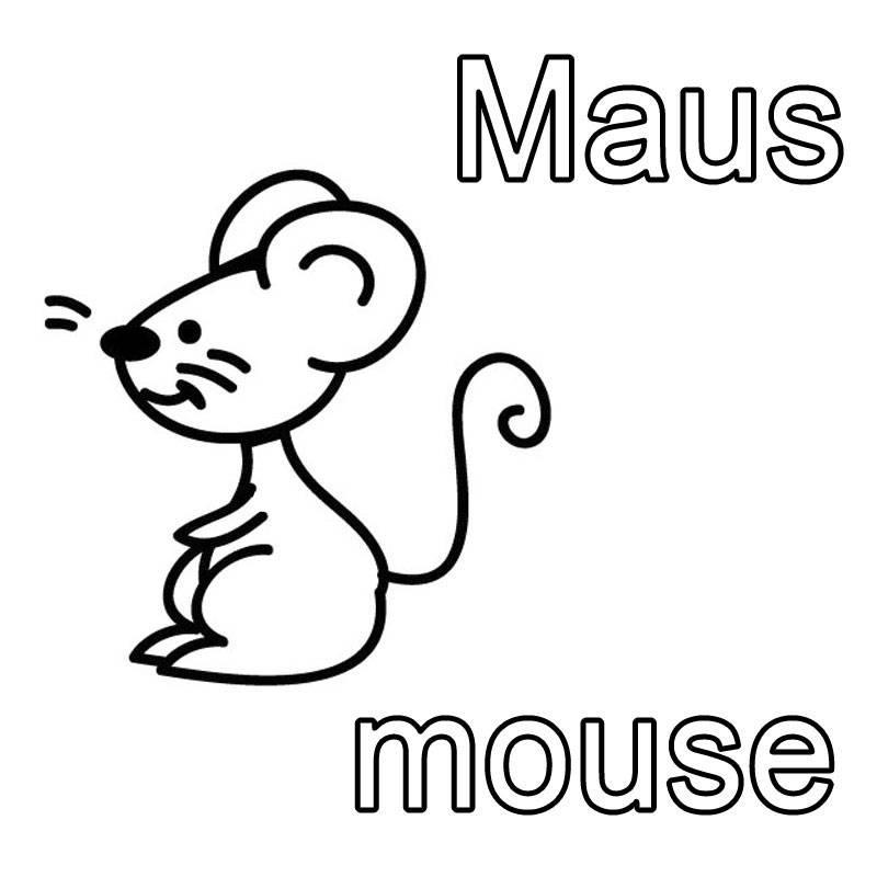 kostenlose malvorlage englisch lernen maus mouse zum. Black Bedroom Furniture Sets. Home Design Ideas