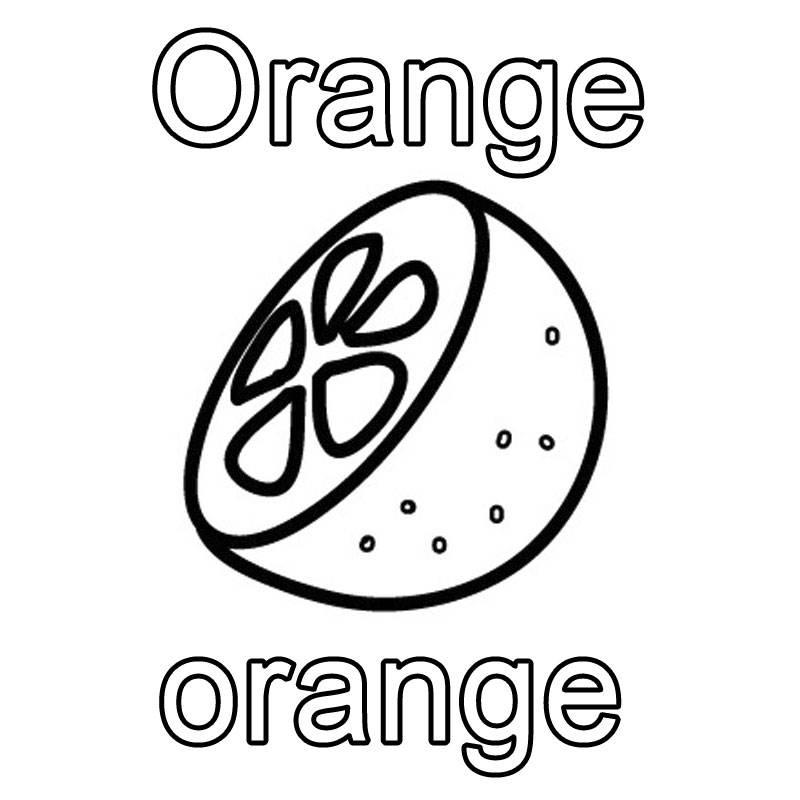 Ausmalbild Englisch Lernen Orange Orange Kostenlos Ausdrucken