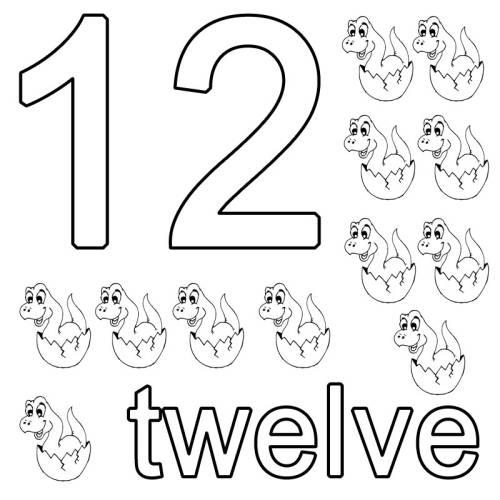 kostenlose malvorlage englisch lernen twelve zum ausmalen. Black Bedroom Furniture Sets. Home Design Ideas