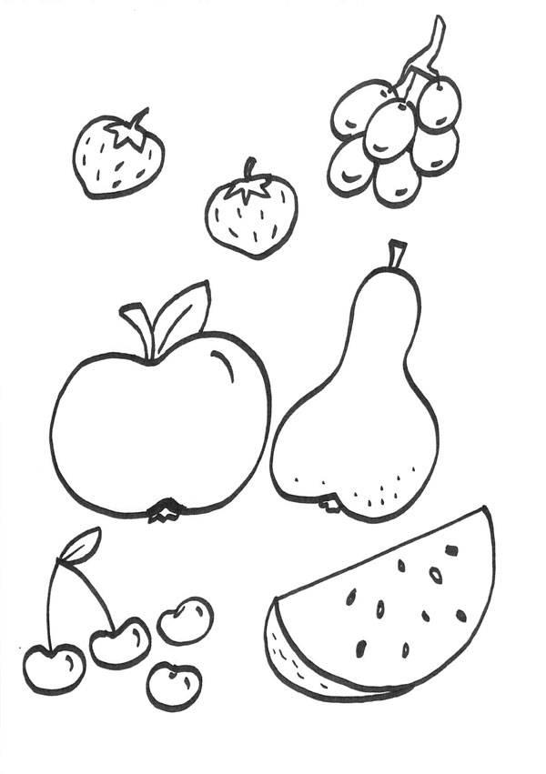 Kostenlose Malvorlage Menschen Und Ihr Zuhause Obst Zum Ausmalen Wohnzimmer