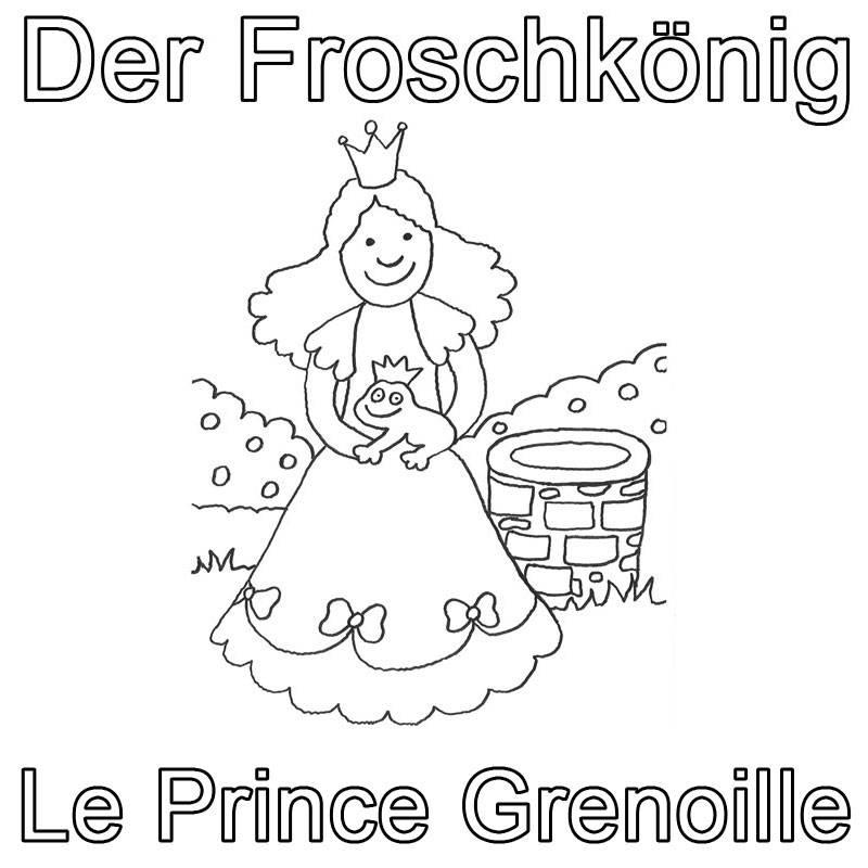 Ausmalbild Französisch Lernen Der Froschkönig Le Prince