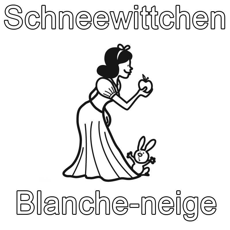 Ausmalbild Französisch Lernen Schneewittchen Blanche