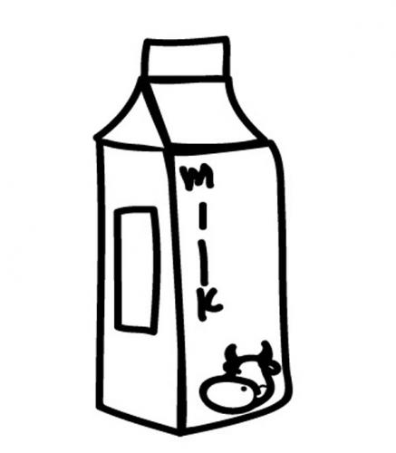 Kostenlose Malvorlage Menschen und ihr Zuhause: Milchkarton zum ...