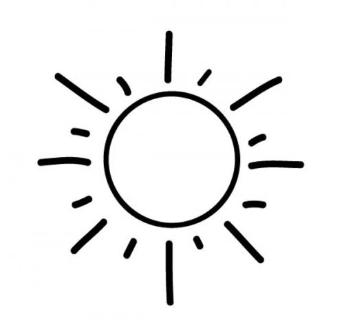 Kostenlose Malvorlage Geburtstag: Sonne zum Ausmalen zum Ausmalen
