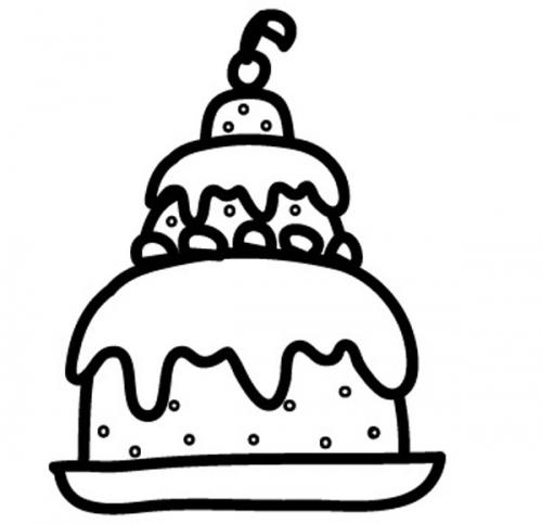 Kostenlose Malvorlage Geburtstag Torte Zum Ausmalen Zum Ausmalen