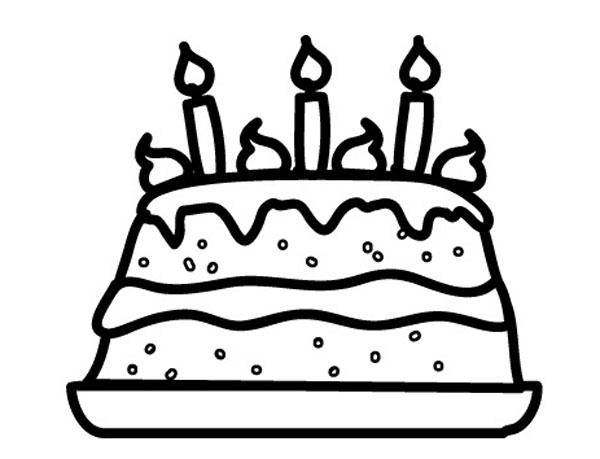 Ausmalbild Geburtstag Geburtstagstorte Zum Ausmalen Kostenlos