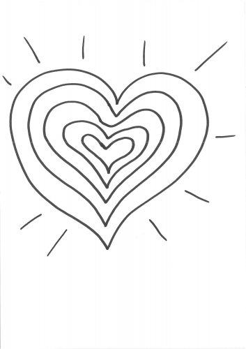 Kostenlose Malvorlage Herzen: Herz zum Bemalen zum Ausmalen