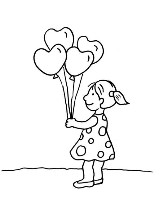 Kostenlose Malvorlage Herzen: Herz-Luftballons zum Ausmalen zum Ausmalen