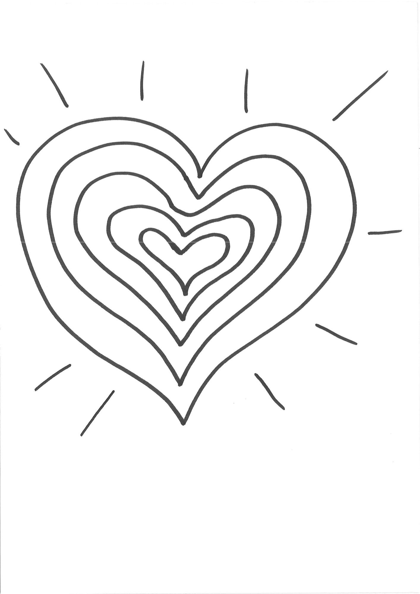 Ausmalbild Herzen Herz Zum Bemalen Kostenlos Ausdrucken