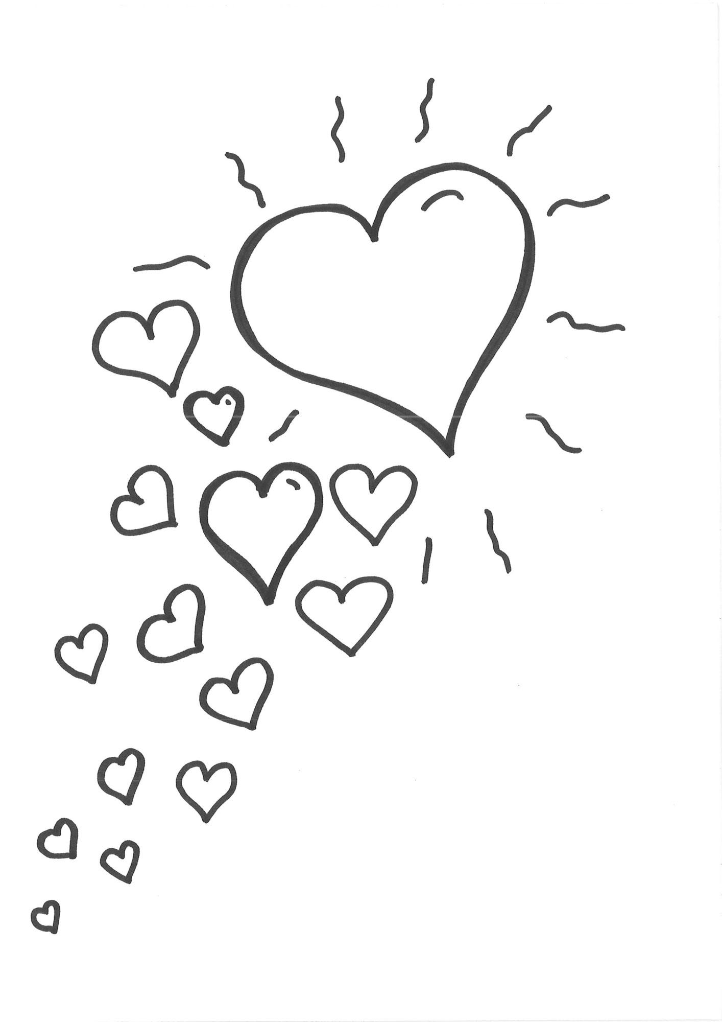 Kostenlose Malvorlage Herzen: Malvorlage Herzen zum Ausmalen