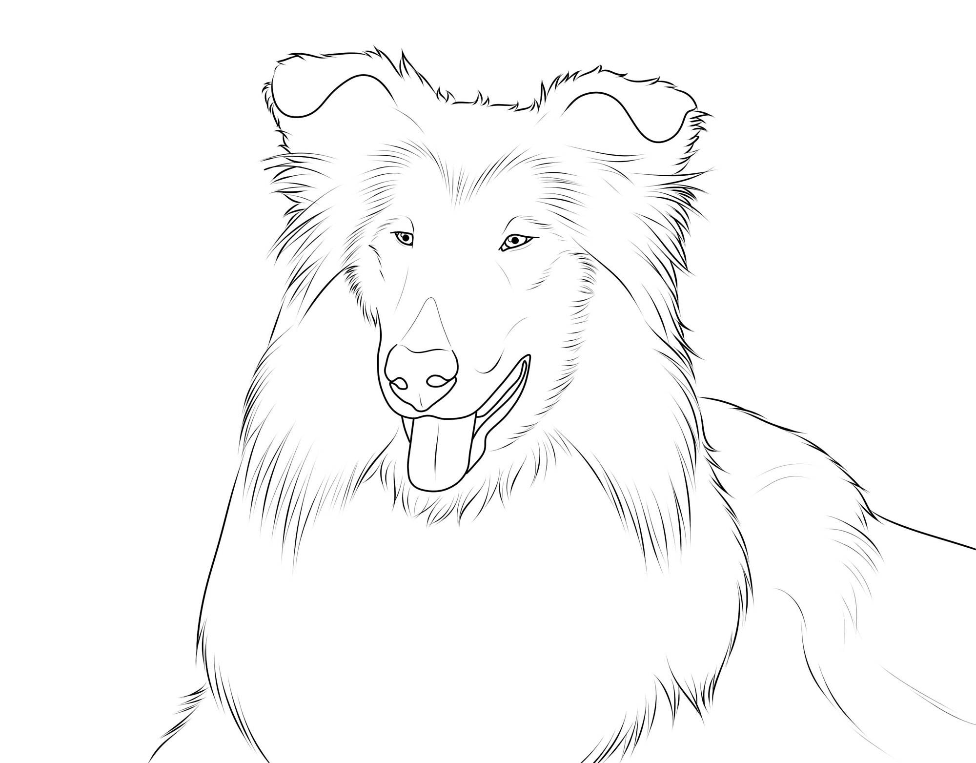 Free Coloring Pages Of Dog Man