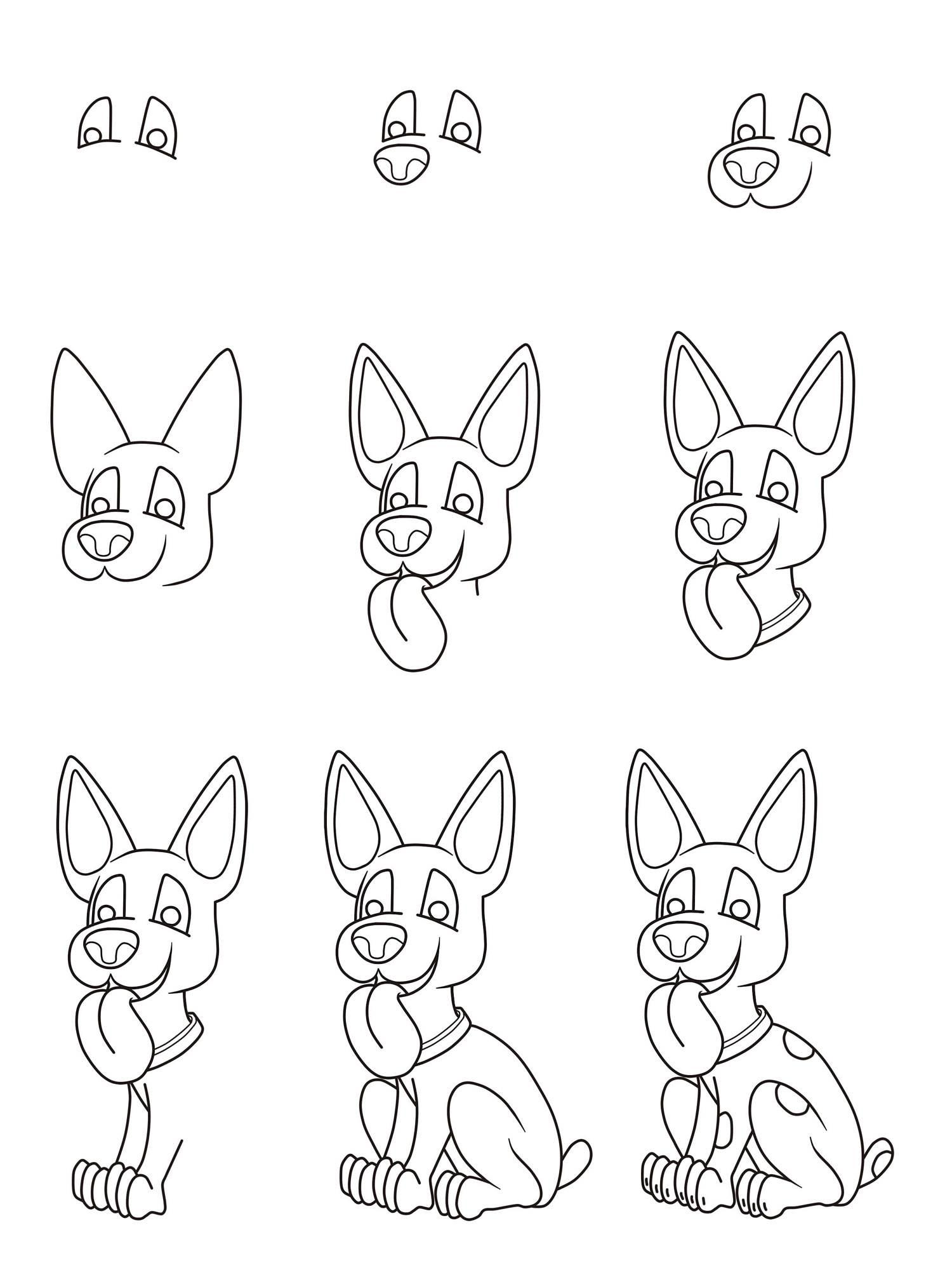 kostenlose malvorlage hunde wie malt man einen hund zum