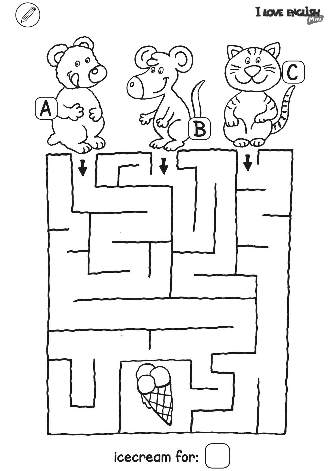 i love english mini labyrinth  eis