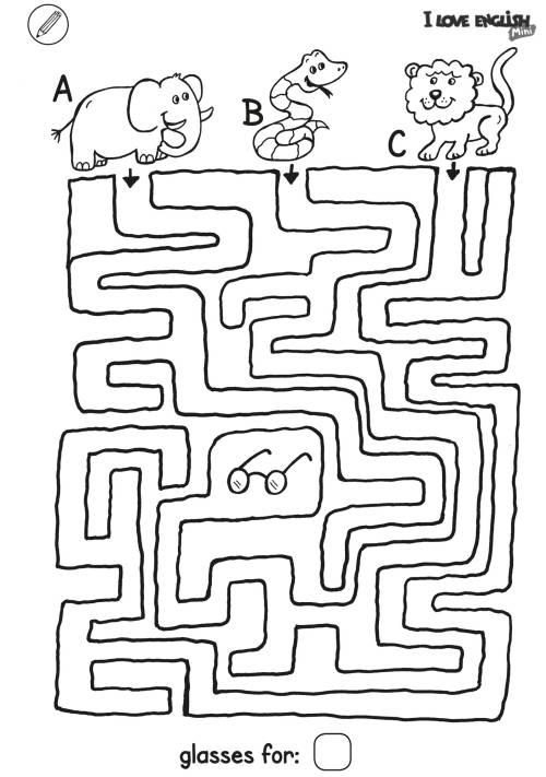 i love english mini  labyrinth