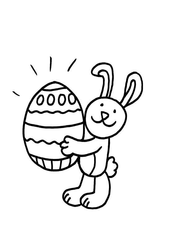 Ausmalbild Kaninchen Osterkaninchen Kostenlos Ausdrucken