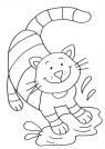 kostenlose malvorlage katzen: ausmalbild: mädchen