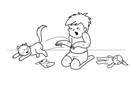 kostenlose malvorlage katzen fauchende katze ausmalen zum