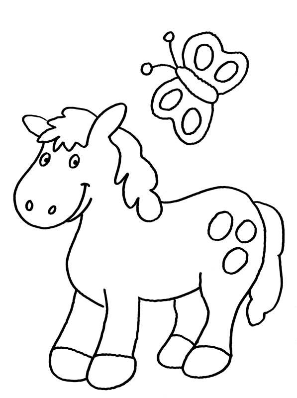 kostenlose malvorlage pferde pony zum ausmalen