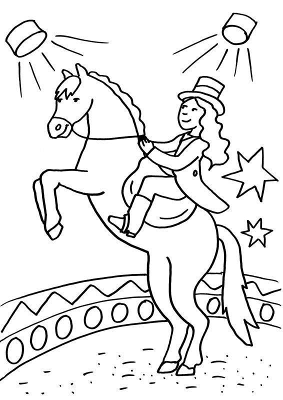 Ausmalbild Pferde Zirkuspferd Kostenlos Ausdrucken