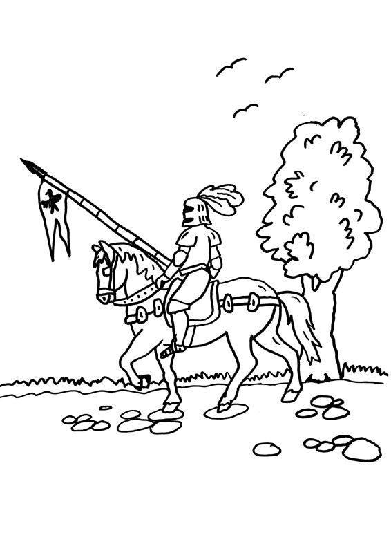 Ausmalbild Ritter Und Drachen Ritterturnier Kostenlos Ausdrucken