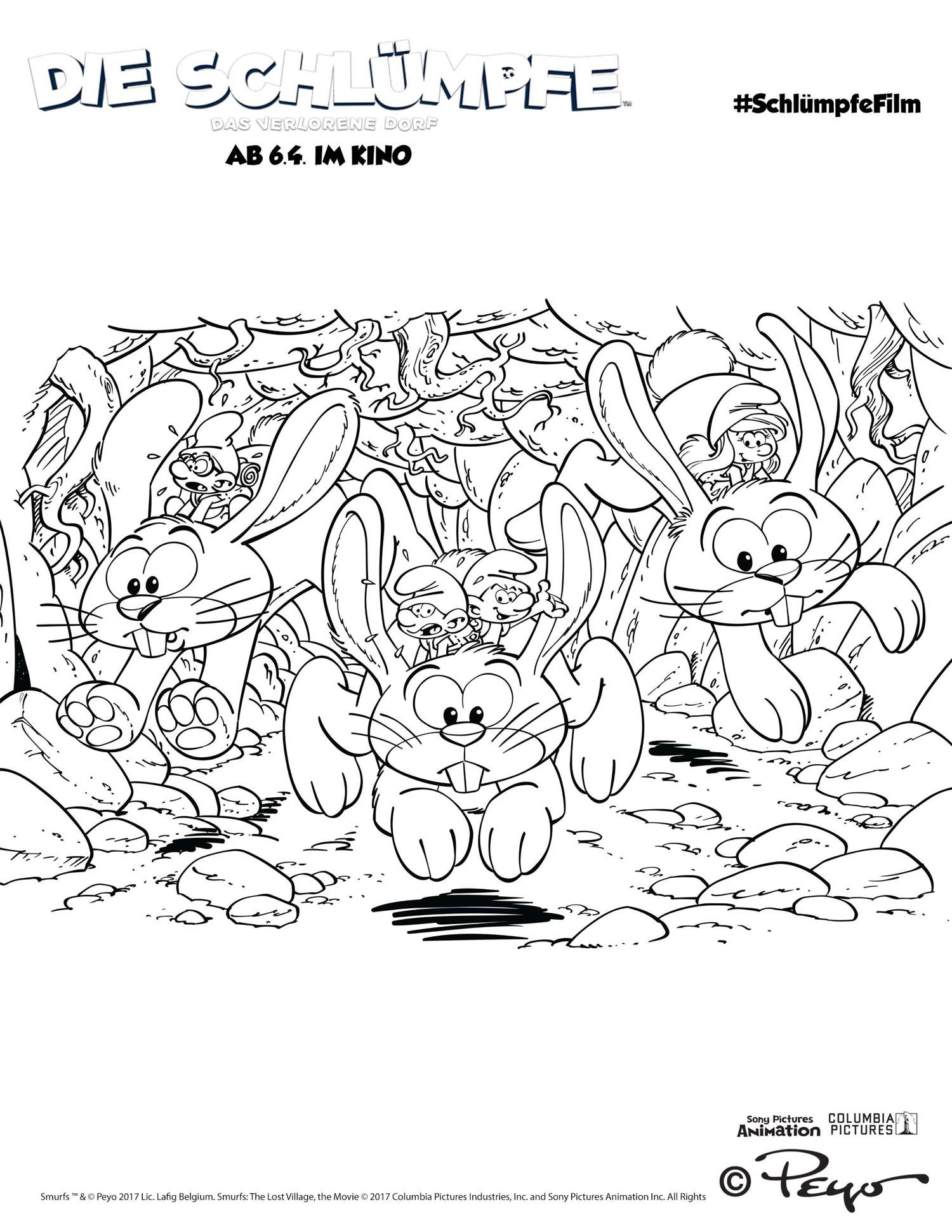 Clumsy Smurf Coloring Pages